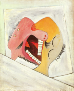 Picasso-the kiss (two heads)1922